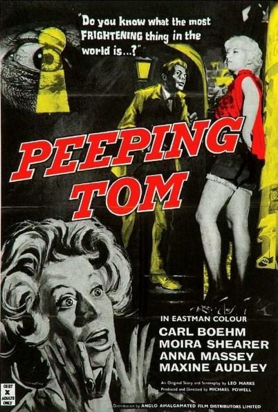 Peeping Tom (1960)  Mark Lewis, küçükken, insanların sinir sistemleri üzerinde korkunun etkisini inceleyen bilim adamı babasının deneylerine maruz kalmıştır. Londra'da bir film stüdyosunda çalışan Mark, babasının kendisine yaptığı deneyler nedeniyle bir takım kişilik bozuklukları yaşayan yalnız, içine kapanık, cinsel dürtülerini bastıran bir adam haline gelmişti.  Kızların fotoğraflarını çektiği süre içinde kendine bir de hobi edinmiştir. Kadınları kamera önünde öldürmekte ve babasının deneylerindeki gibi öldürdüğü kadınların yüzlerindeki dehşet ifadesini kameraya almaktadır. Bir gün Helen isminde bir kadınla tanışan Mark için bu kadın, yaptığı şeyden vazgeçmesine mi neden olacaktır yoksa daha öncekiler gibi bir kurban mı olacaktır?   Michael Powell'ın yönettiği Peeping Tom, bugün bile seyirci üzerinde aynı etkiyi bırakabilen başarılı bir korku filmi.