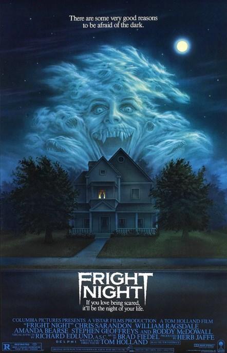 Fright Night (1985)  Charley Webster, gece vakitlerinde korku filmleri izlemekten zevk alan genç bir lise öğrencisidir. Bir gece Charley film izlerken yeni taşınan komşularının garip hareketlerini farkeder ve hayal gücü de sürekli korku filmleriyle beslenen Charley, onların birer vampir olduğunu düşünmeye başlar. Çok sevdiği korku filmlerinden birinin içine düşmüşçesine korku duymaya başlayan Charley, hayatta kalmak için artık kendini korumaya almalıdır.