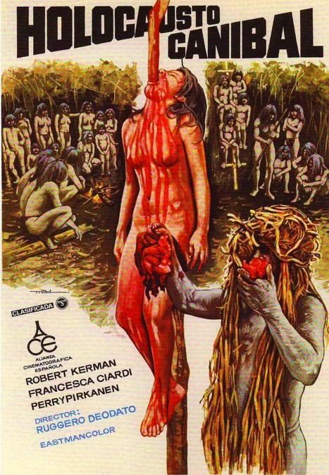 Cannibal Holocaust (1980)  Belgesel türüne yaklaşan film, Güney Amerika'ya çekime gittikten sonra kaybolan bir film ekibinin araştırılmasını konu ediniyor.  Olayı araştıran profesör, film ekibinin çevrede yaşayan yerlilerin keyfini kaçırdığını ve bunun karşılığında onların yamyam yüzleriyle karşılaştıklarını öğreniyor. Üstelik bu bilgiyi geride kalan video kasetlerden almak zorunda kalıyor!  İlginç bir ayrıntı olarak, yönetmenin filmin İtalya prömiyerinden sonra tutuklandığını ve ancak oyunculara zarar vermediğini ispat ettikten sonra salındığını ekleyelim.