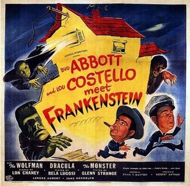 Abbott and Costello Meet Frankenstein (1948)  İki hamal olan Wilbur ve Chick kendilerini Dracula (Bela Lugosi) Kurt Adam (Lon Chaney Jr.) Frankenstein Canavarı (Gleen Strange) ile birlikte eğlenceli ve ürkütücü bir maceraya atılıyorlar.