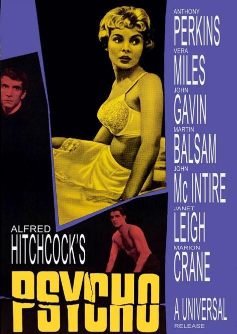 Psycho / Sapık (1960)  Türünün en önemli örneği olan Sapık, yönetmen Alfred Hitchcock'un başyapıtı olarak kabul edilir. Marion Crane'e patronuyla iş yapan zengin bir adam para emanet eder ve ardından Marion yola koyulur. Polisler Marion'un şüpheli davranışları üzerine peşine takılır. Ancak Marion'un peşine takılan sadece polisler değil, aynı zamanda tanıdıkları da Marion'un peşindedir. Sevgilisi ile buluşmayı planlayan Marion geceyi bir otelde geçirmeye karar verir. Otelden içeri girer girmez garip şeyler olduğunun farkın varan Marion uyumadan önce otel sahibi Norman Bates ile biraz sohbet eder. Norman ın kişiliğinde sorunlar olduğunu, annesine ve kuşlara karşı bir takıntısı olduğunu öğrenen Marion, odasına gidip duş almaya karar verir.