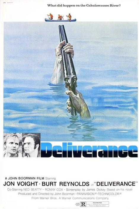 Deliverance / Kurtuluş (1972)  Dört arkadaş Georgia nehrine kanolarıyla biraz haftasonu hareketi için gelirler. Amaçları biraz eğlenmek, macera yaşamak ve şehirden uzaklaşmaktır. Ancak içlerinden bazıları özellikle köylülerle alay eden bir tutum içindedirler. Hem hor gördükleri doğa hem de yöre insanlarının onlara unutamayacakları bir senaryo yazacağını kimse tahmin etmemiştir.  James Dickey'in aynı adlı romanından senaryolaştırdığı bu klasik film şüphesiz başrolündeki Burt Reynolds'ın da filmografisindeki en önemli film.