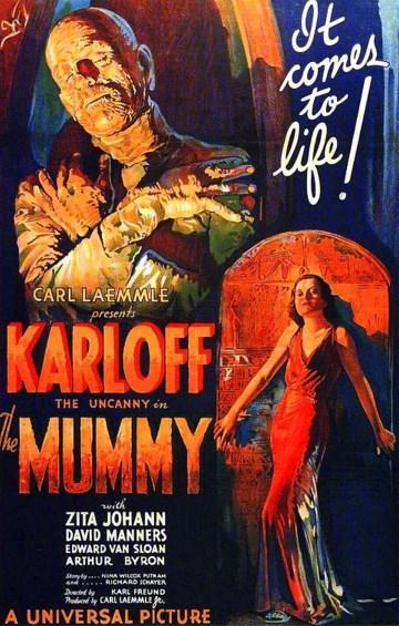 The Mummy / Ölmeyen Mumya (1932)  Eski Mısır'ı konu alan korku filmlerinin öncüsü niteliğinde... Filmde, bir grup İngiliz arkeolog bir prensesin mezarını rahatsız etmelerini ve daha sonra da mumyanın lanetiyle yüz yüze kalışları anlatılıyor. Gösterişli dekorları ve başta Boris Karloff olmak üzere oyuncuların üstün performansıyla büyük övgüleri hak eden film, günümüzün teknoloji harikası özel efektlerinden yoksun olmasına rağmen etkisinden hiçbir şey yitirmiyor. ''The Mummy'', katıksız bir korku film olmasına rağmen şaşırtıcı derecede duygusal bir yapıt. Filmin final sahnesindeki geri dönüşler gerçekten görülmeye değer.