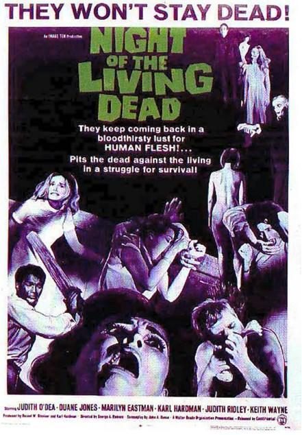 Night of the Living Dead / Yaşayan Ölülerin Gecesi (1968)  Barbra ve kardeşi Johnny, babalarının mezarını ziyaret etmek için şehir merkezinden bir hayli uzakta, izbe bir bölgede olan mezarlığa giderler. Burada dua rutinlerini tamamladıkları esnada kendilerine yaklaşmakta olan yabancı bir siluetle karşılaşırlar. Kız kardeşinin aksine bir hayli rahat davranan Johnny, bu yabancının saldırısına uğrar ve oracıkta hayatını kaybeder. Ancak bu bir son değil, ürkütücü bir başlangıcın habercisi olur. Genç kadın ağır bir travmaya girer ve canını kurtarabilmek için bulabildiği ilk yere sığınır. Ancak burada yalnız olmadığını fark etmesi uzun sürmez. Bir anda kasabayı saran bu yaratıklardan korunmaya çalışan tek insan kendisi değildir. Ben de kendisi gibi canını zor kurtarmıştır ve kapıda diğerleri de vardır...