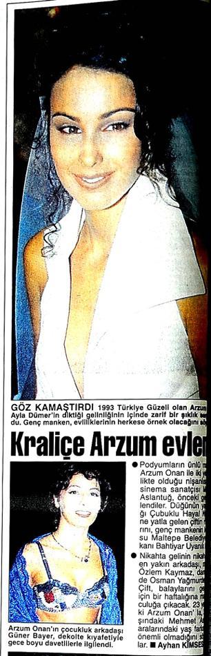 Kraliçe Arzum hala evli...  3 Ağustos 1996