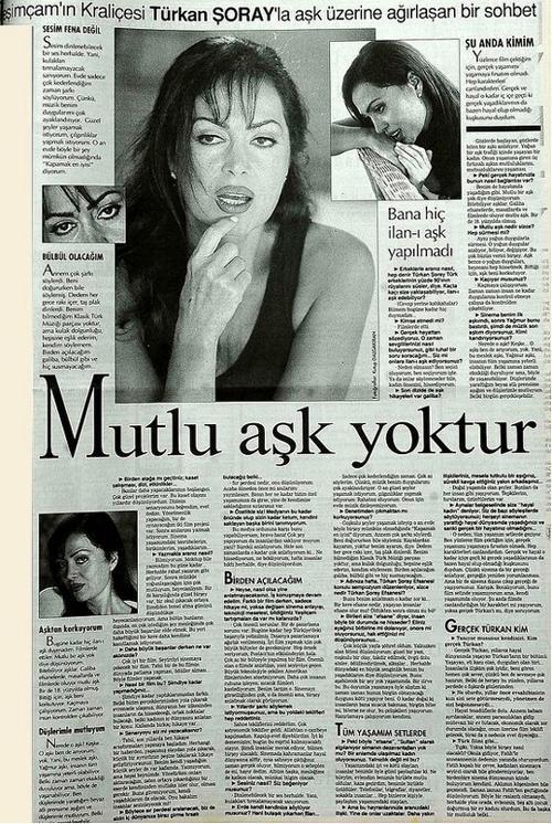 Mutlu aşk hala yok...  29 Eylül 1996