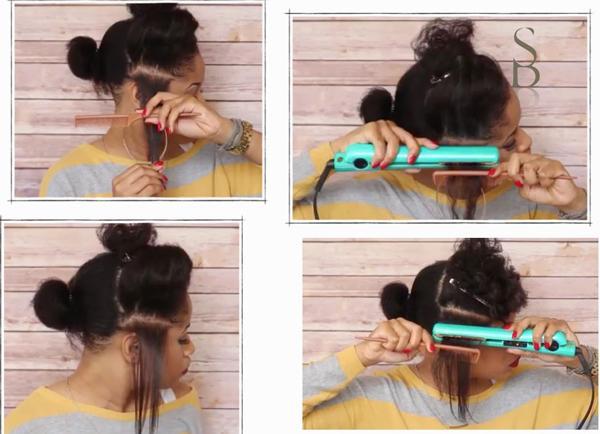 Düz tarak ile birlikte, düzleştiriciyi şekildeki gibi kullanmak, saçının aynı noktasına ısı uygulanmasını engelleyerek saç hasarını minimize eder.  Pürüzsüz düzleşmiş bir saça sahip olmak da cabası!