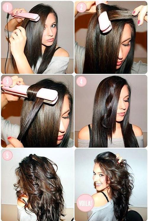 İnce tablası olan bir düzleştiricin varsa, kıvırcık saçlar için maşaya ihtiyacın yok!