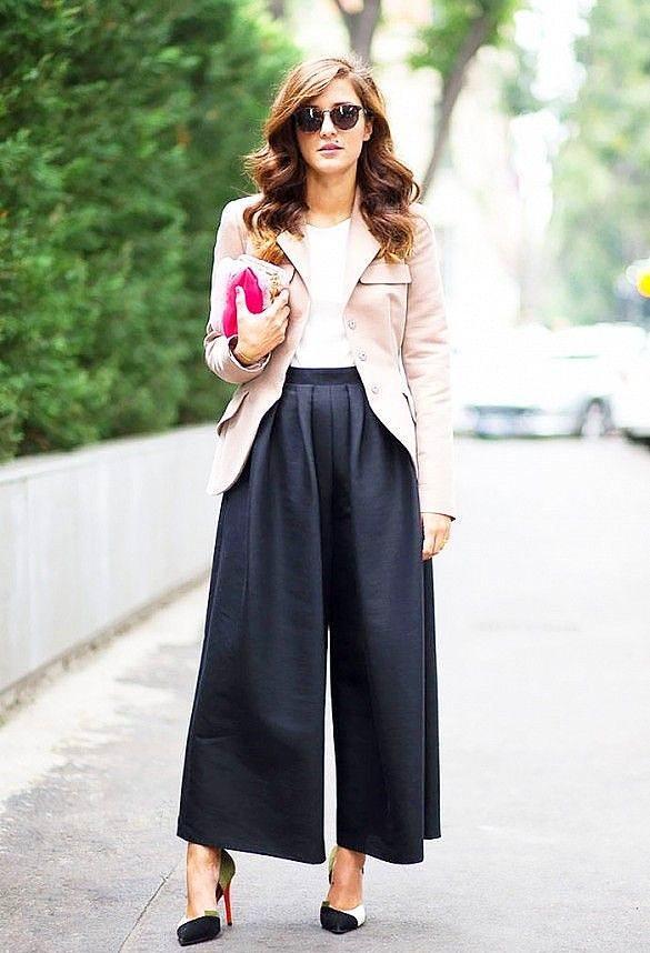 Bol Pantolonlar  2015'in en güçlü trendlerinden biri olan bol ve kısa pantolonların hakimiyeti bu yıl da devam ediyor. Ayrıca bu yıl aynı pantolonların uzun versiyonlarını da göreceğiz.