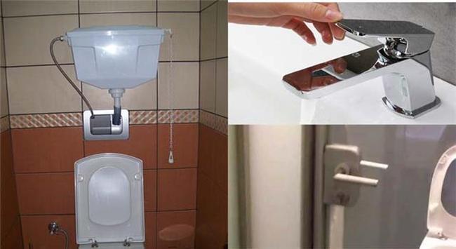 Ortak kullanım alanlarındaki tuvaletlerin sifon, musluk ve kapı kolları