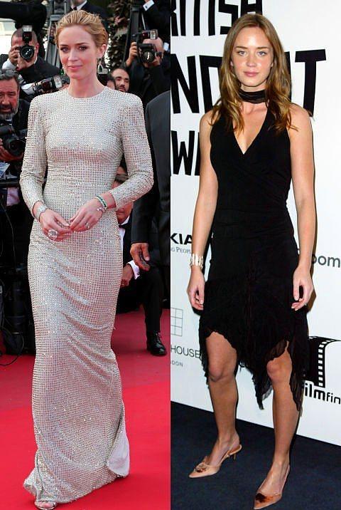 Emily Blunt  Blunt'ın sade tarzının habercisi, 2004 yılında tercih ettiği siyah elbiseymiş.