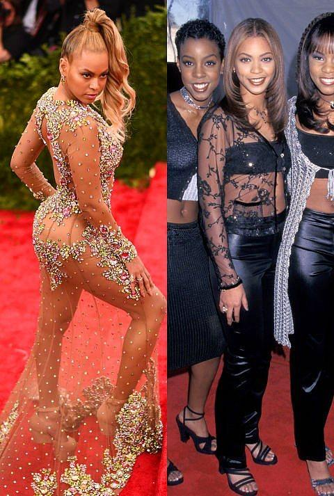Beyonce  1998 yılında Beyonce'yi böyle görenler, onun dekolte tutkusu karşısında çok da şaşkın sayılmazlar.