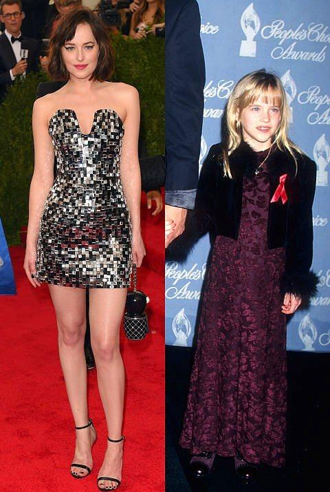 Dakota Johnson  Peki Johnson'ı, 1997 yılındaki bu haliyle tanıyabilecek kadar keskin mi gözleriniz?