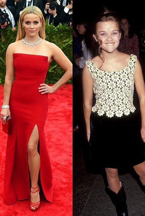 Reese Witherspoon  Witherspoon, 1991 yılında yani daha 15 yaşındayken katıldığı kırmızı halıda yaşına göre oldukça şık görünmüyor mu sizce de?