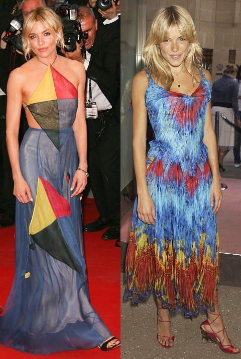 Sienna Miller  Miller ise 2003 yılında da, tıpkı şimdiki gibi hem güzelliği hem şıklığıyla etrafındakileri büyülüyordu. Özetle onun için çok da bir şey değişmedi.