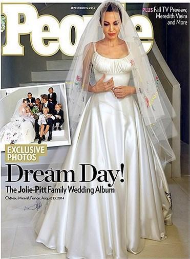 Brad Pitt için; dünyanın en güzel kadınlarından birine gelinlik giydirmek mükemmel bir his