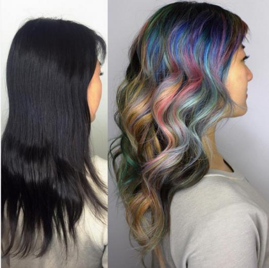 Bu yılın trendi 'Kozmik Saçlar'ı deneyerek renkli kişiliğinizi ortaya çıkarabilirsiniz.