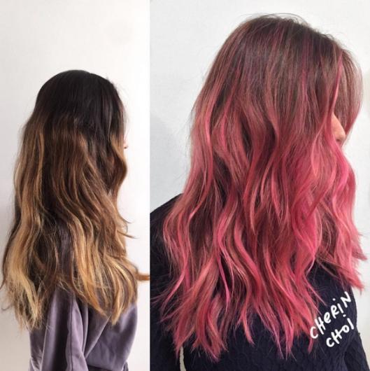 Romantizmin rengi pembe saçlarınızda kendinizi bulmanızı sağlayacak.