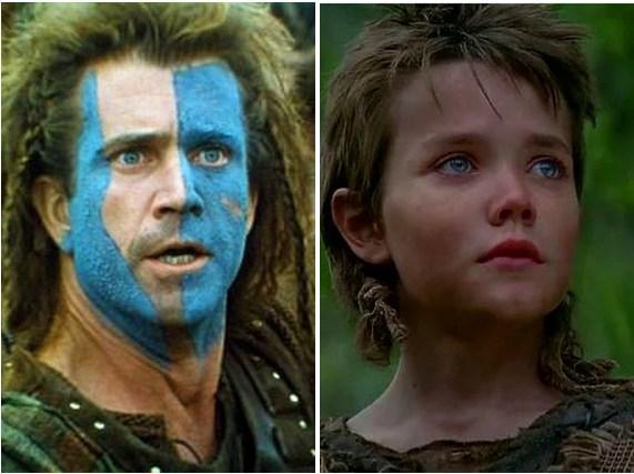 Cesur Yürek'te William Wallace'ın çocukluk yılları.