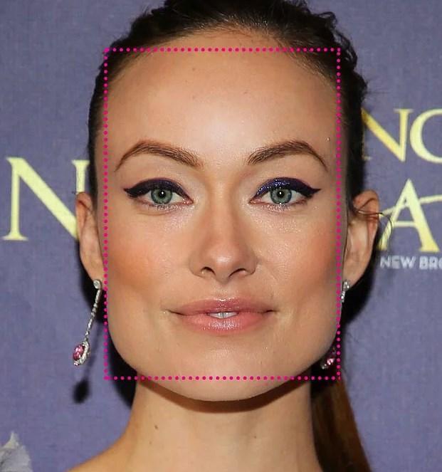 5. Yüzün uzunluğu genişliğinden daha fazla ve köşeli ise, Dikdörtgen Yüz Şekline sahipsiniz!