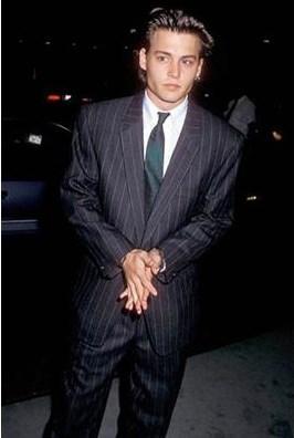 Johnny Depp'in 20'li yaşlarındaki hali.