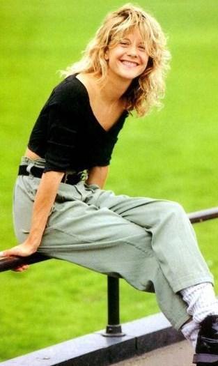 80'li yılların romantik prensesi Meg Ryan.