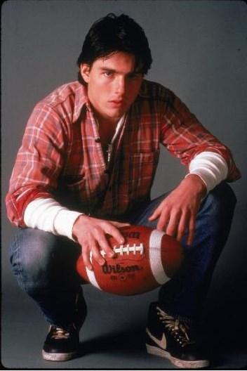 Tom Cruise'un 80'li yıllardaki görüntüsü.