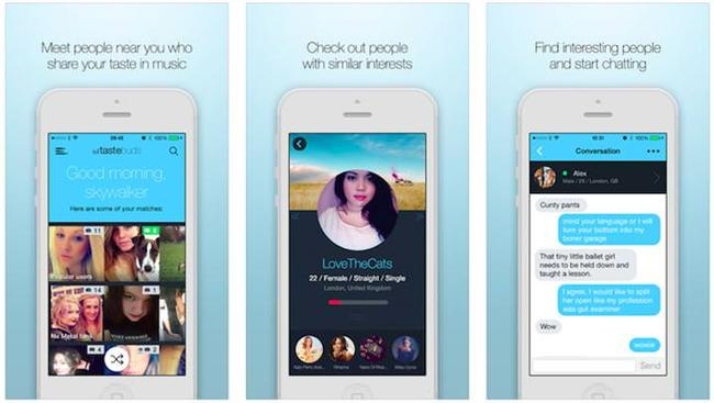 Tastebuds  Tastebuds da bir önceki uygulamanın aksine; sadece iOS işletim sistemine sahip olan cihazlar için indirilebilir durumda şu an. Bu uygulamanın geliştirilme amacı ise çiftlerin aynı müzik zevkine sahip olmalarını sağlamak. Kısacası sizi ruhunuzun gıdasıyla besleyecek bir sevgili ile tanıştırmayı amaç ediniyor kendisine.