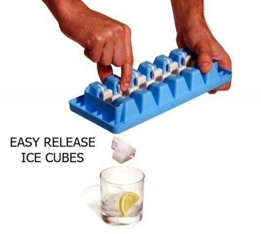Çabuk Çıkartılan Buz Küpleri  Buz küplerinizi uğraş vererek gevşetip çıkarmaya çalışmak yerine küçük bir çıt sesi ile ulaşabilirsiniz.