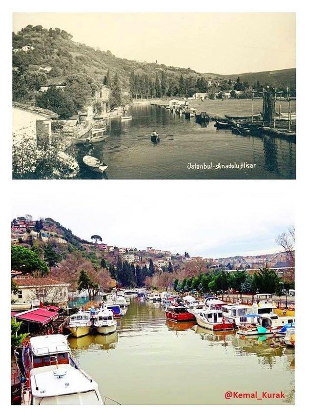 """Bu fotoğraflarla geçmişe dönerek, İstanbul'un değişimine tanıklık edebilirsiniz. İşte önceki ve şimdiki halleriyle İstanbul'un bazı yerleri...  Göksu Deresi'nin dünü bugünü.  <a href=  http://foto.mahmure.com/yasam/istanbul-semt-isimlerinin-anlami_39976 style=""""color:red; font:bold 11pt arial; text-decoration:none;""""  target=""""_blank""""> İstanbul Semt İsimlerinin Anlamı"""