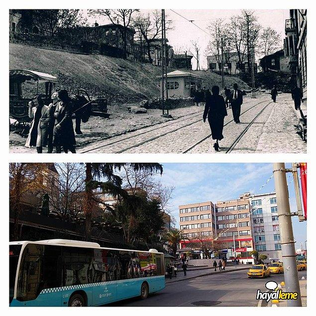 75 yıl önce ve şimdi Kadıköy Altıyol.