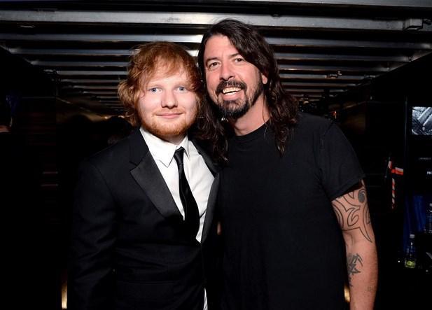 Ed Sheeran ve  Dave Grohl oldukça yakındı.