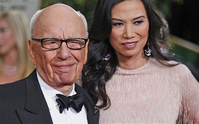 Rupert Murdoch ve Wendi Deng – 1.8 Milyar $  Anna'dan ayrıldıktan tam 17 gün sonra Wendi Deng ile evlenen Murdoch yine aradığını bulamamış ve 14 yıl sonra Wendi'den ayrılmış. Bu da ona 1.8 milyar $'a mal olmuş. Bu iki astronomik nafakaya rağmen Murdoch hala dünyanın en zengin 10 kişisinden biridir.
