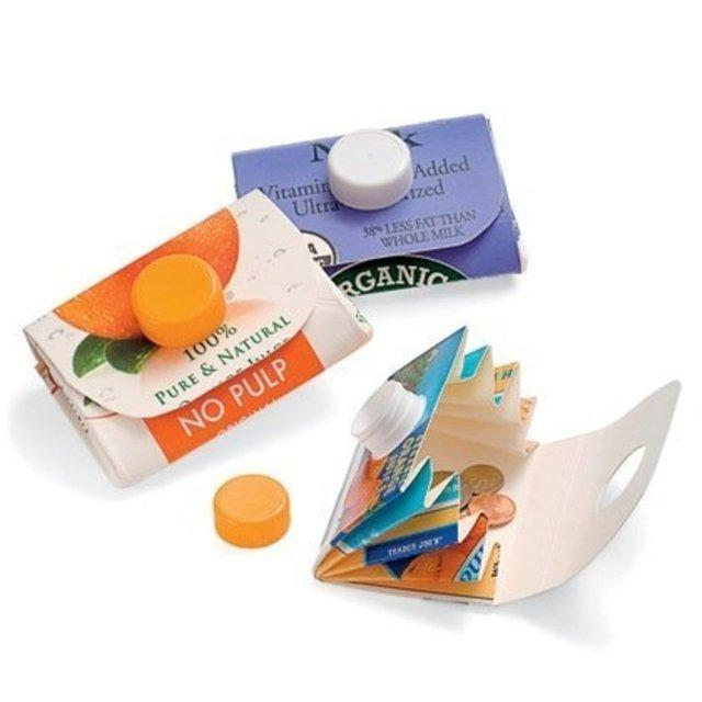 Meyve suyu kutularından cüzdan...