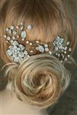 Tokalı Gelin Saçı Modelleri - 9