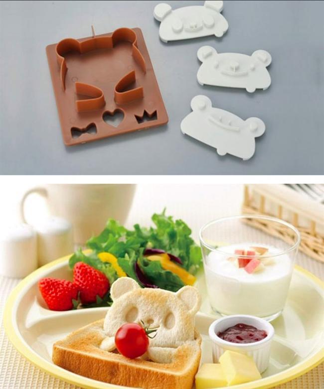 Panda şekli veren ekmek baskısı