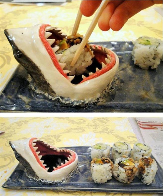 Köpekbalığı suşi tabağı