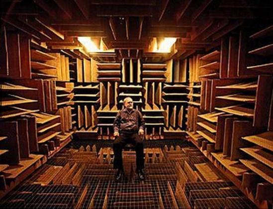 Dünyanın en sessiz yeri, Orfield Laboratuarlarındaki yankı odası.  Ses dalgalarının %99.99'unu absorbe edebilen yapısı ile insanları gerçekten çok ilginç bir şekilde etkiliyor.