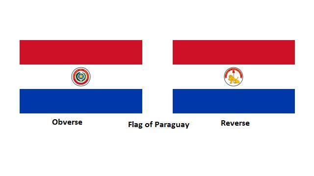 Paraguay bayrağı dünyadaki önü ve arkası farklı olan tek bayraktır. Ortadaki logo önde değişik, arkada değişiktir.
