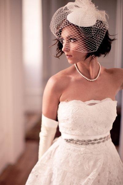 Kısa Düğün Saçı Modelleri - 25