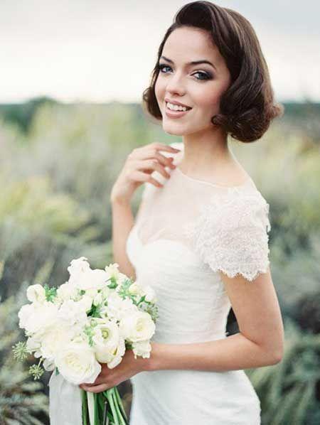 Kısa Düğün Saçı Modelleri - 10