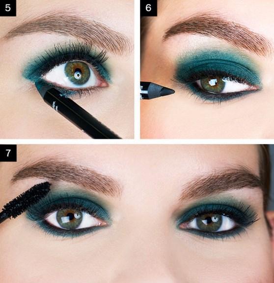 Adım 4:Parmağınız yardımıyla yeşil kalemi dağıtın.. Adım 5: Göz altınızdan anahtar şeklinde yeşil kalemi bağlayın.