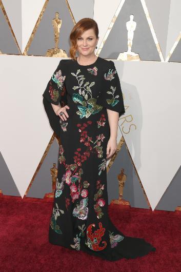 Amy Poehler'ın kıyafeti pek değenilmedi.