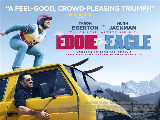Kartal Eddie (2016) Vizyon Tarihi: 1 Nisan 2016  Film, İngiltere tarihindeki en ünlü kayak atlamacı Michael Edwards nam-ı değer Eddie the Eagle'ın ilham verici üstün başarısını konu ediniyor. Edwards'ın spora 'asla ölüm deme' yaklaşımı tasvir edilir. Film aynı zamanda Edwars'ın sıra dışı ihtimaller ve mücadeleler karşısındaki insani ruhunu ve direncini kutlar.