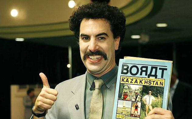 Sacha Baron Cohen - Kazakistan  Sacha Baron Cohen'in Borat filmini izleyenler neden Kazakistan'a girmesi yasak olduğunu çok net anlayacaktır. Çünkü şakayla karışık da olsa bir halkı ve bir kültürünü yanlış bir şekilde komediye alet ederek dünyanın gözü önünde dalga geçmiştir.