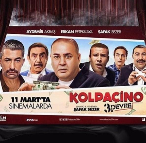 Erkan Petekkaya  #kolpaçino3 filminin galası için perşembe akşamı #berlin de olucaz .bekleriz .