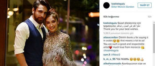 Geçtiğimiz yılın Kasım ayında ise nişanlandılar!  İlişkilerinin bu tarz büyük anlarını sevenleriyle sosyal medya üzerinden paylaşıyorlardı.