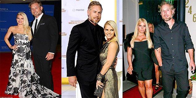 Jessica Simpson & Eric Johnson  Şarkıcı Simpson 1.61 boyunda, Amerikan futbolu oyuncusu Johnson ise 1.91.