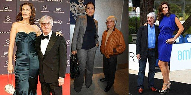 Bernie Ecclestone & Slavica Radic  Formula 1'in patronu Ecclestone 1.59, eski eşi Radic ise 1.88 boyundaydı.