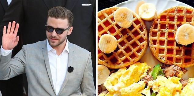 Ünlüler ne yapıyor da kilosunu koruyor? İşte tanınmış ünlülerin yedikleriyle formda kaldıklarını gösteren 12 yiyecek...  Justin Timberlake  Eğri oturup doğru konuşalım bir J.T kolay yetişmiyor. Kendisi şarap gibi yıllandıkça yakışıklılaşıyorsa, bunun sebebi çift dürülmüş lahmacun değil elbet. Abimiz her spor sonrası kahvaltıda kepekli waffle ve çırpılmış yumurta yiyormuş.